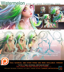 Watermelon Faerie Tutorial pack. promo. by sakimichan