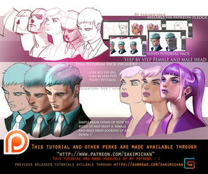 Female. Male look up/Down tutorial pack .promo.