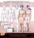 Female. Male Front fullbody tutorial pack .promo.