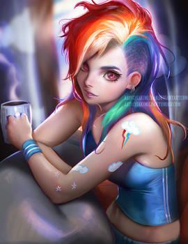 Rainbow Dash Morning