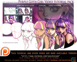 Gothic Purple video tutorial pack .promo. by sakimichan