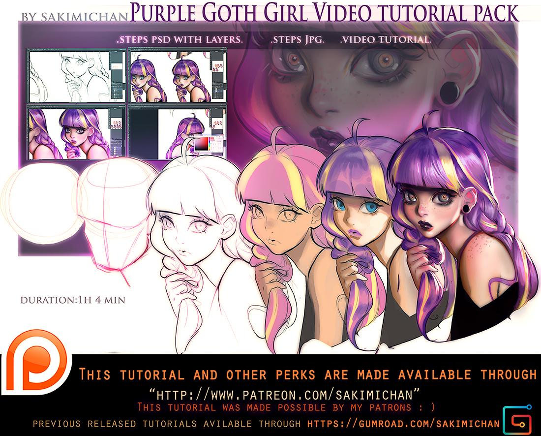 Gothic Purple video tutorial pack .promo.