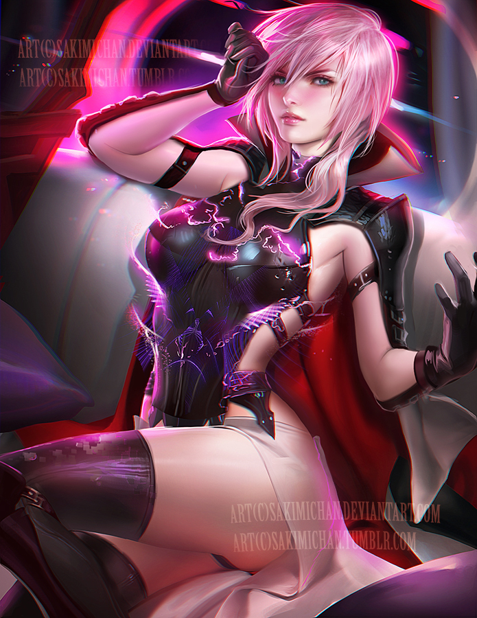 Lightning Pinup .NSFW optional. updated! by sakimichan