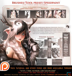 Brushes/Tools/Speedpaint Voice over tutorial pack. by sakimichan