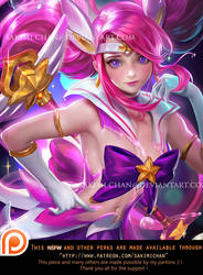 Star guardian Lux semi-nude Teaser by sakimichan