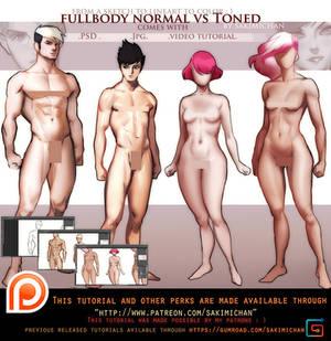 Normal Vs Toned/muscular  tutorial pack .promo.