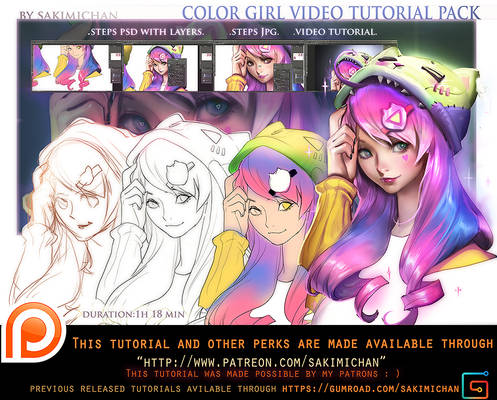 Color girl tutorial pack .promo.