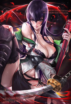 Saeko Busujima .NSFW optional.