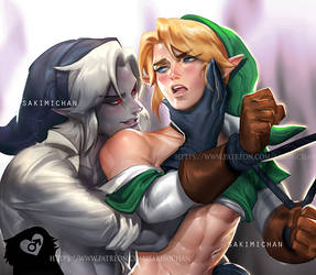 Link X Dark Link (WARNING YAOI) teaser by sakimichan