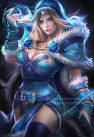 Crystal Maiden dota 2 by sakimichan