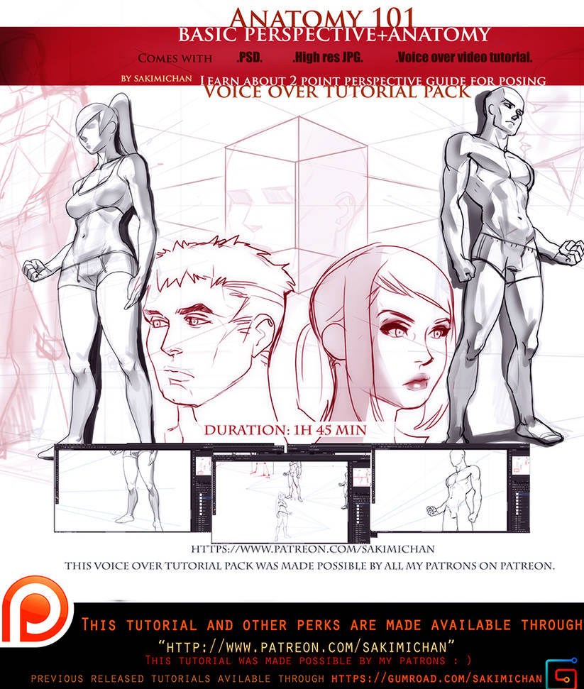 perspective guide + characters voice over lesson   by sakimichan on