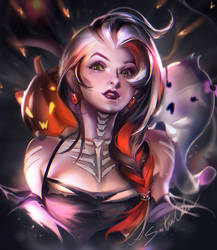 Happy Halloween girl by sakimichan
