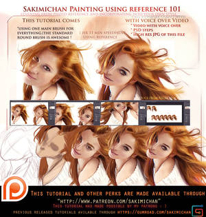 Painting with reference  voice over lesson .promo.