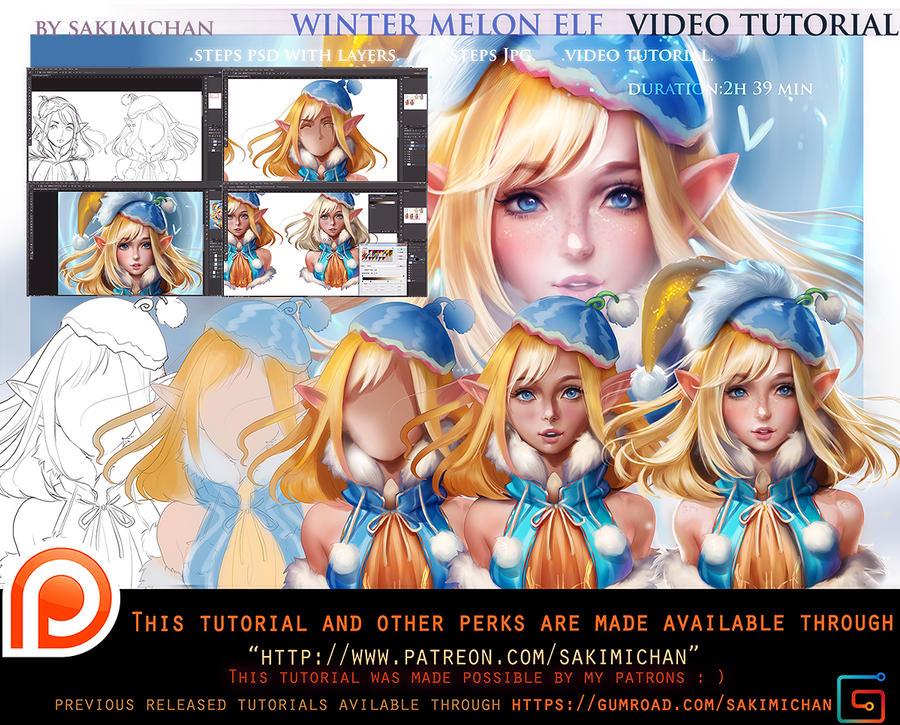 Winter Melon Elf tutorial pack.promo.