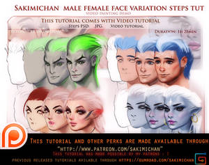 Female Male face variation video tutorial pack