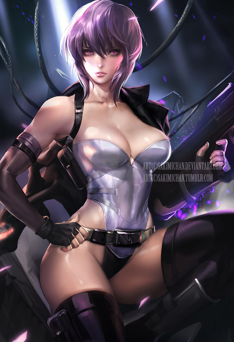 Ghost in Shell .nsfw optional. by sakimichan on DeviantArt