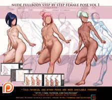 fullbody female pose step by step .promo.