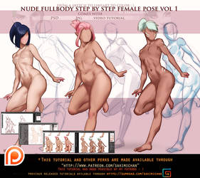 fullbody female pose step by step .promo.