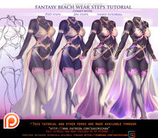 Fantasy Swim Wear steps tutorial pack .promo.