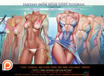 Fantasy Swimsuit step by step tutorial pack.Promo.