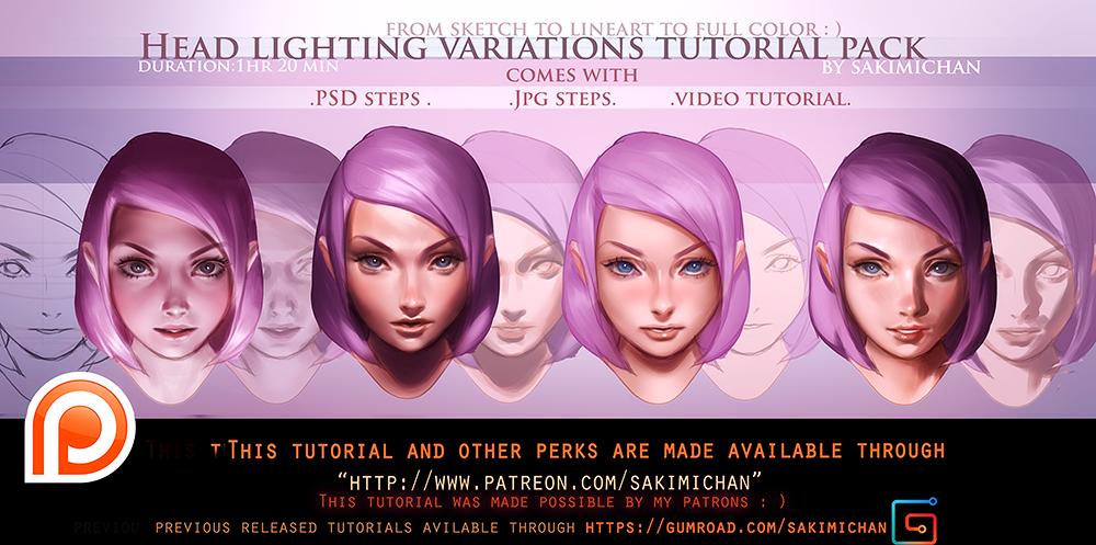 sc 1 st  sakimichan - DeviantArt & Face Lighting Variation steps tutorial pack.promo. by sakimichan ... azcodes.com