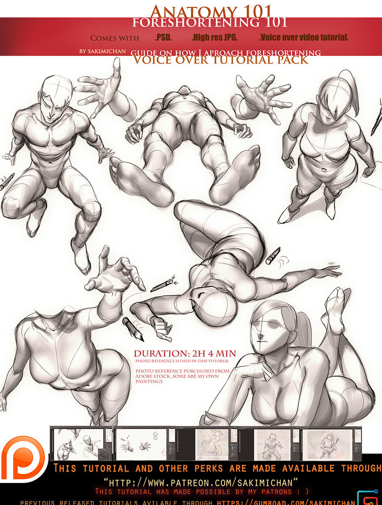 Anatomy 101 Voice Over Foreshortening Omo By Sakimichan On