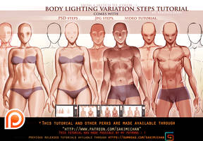 Body Lighting steps tutorial pack.promo. by sakimichan