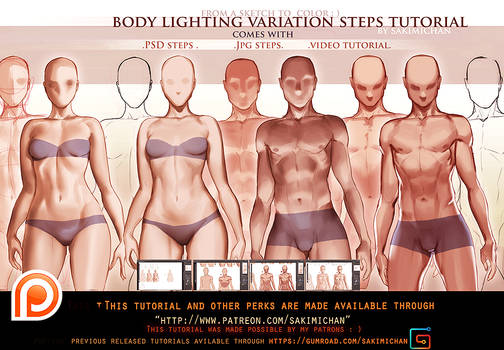 Body Lighting steps tutorial pack.promo.