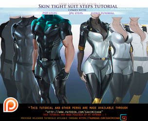 Skin Tight suit steps tutorial pack.promo. by sakimichan