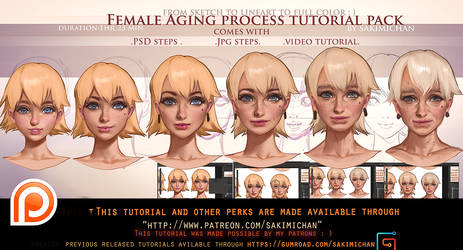 Female Aging step by step tutorial pack .promo.