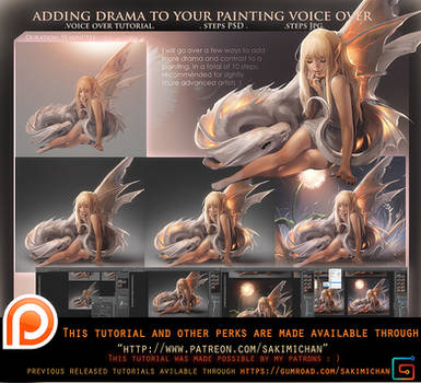 Adding drama to your painting .Voiceover tutorial.