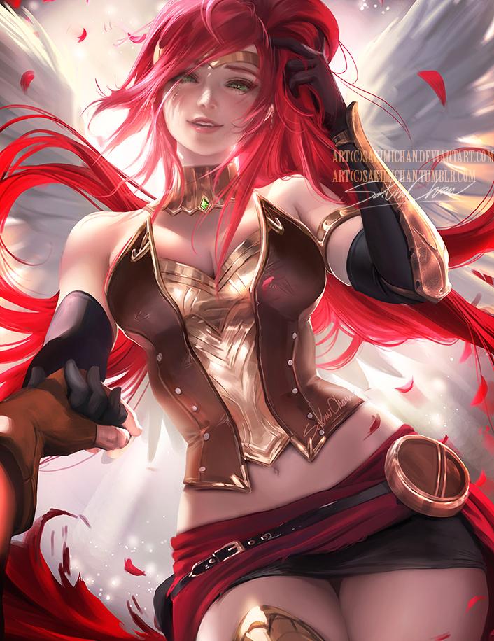 Pyrrha .take my hand. by sakimichan