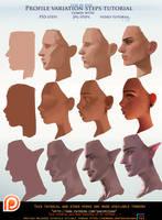 Profile variation steps tutorial pack .promo. by sakimichan