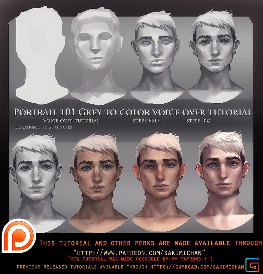 Portrait 101 Grey To Color Voice Over Tutorial By
