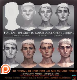 Portrait 101 Grey to Color Voice Over Tutorial .