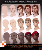 Skintone Ethnicity voice over tutorial pack.promo. by sakimichan