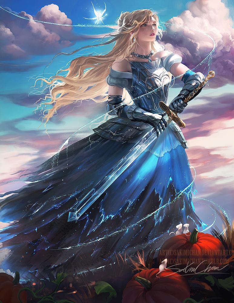 Cinderella Knight by sakimichan