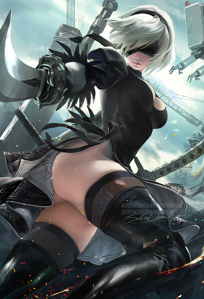2B .nsfw optional. by sakimichan