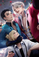 Yuri On Ice group pic by sakimichan