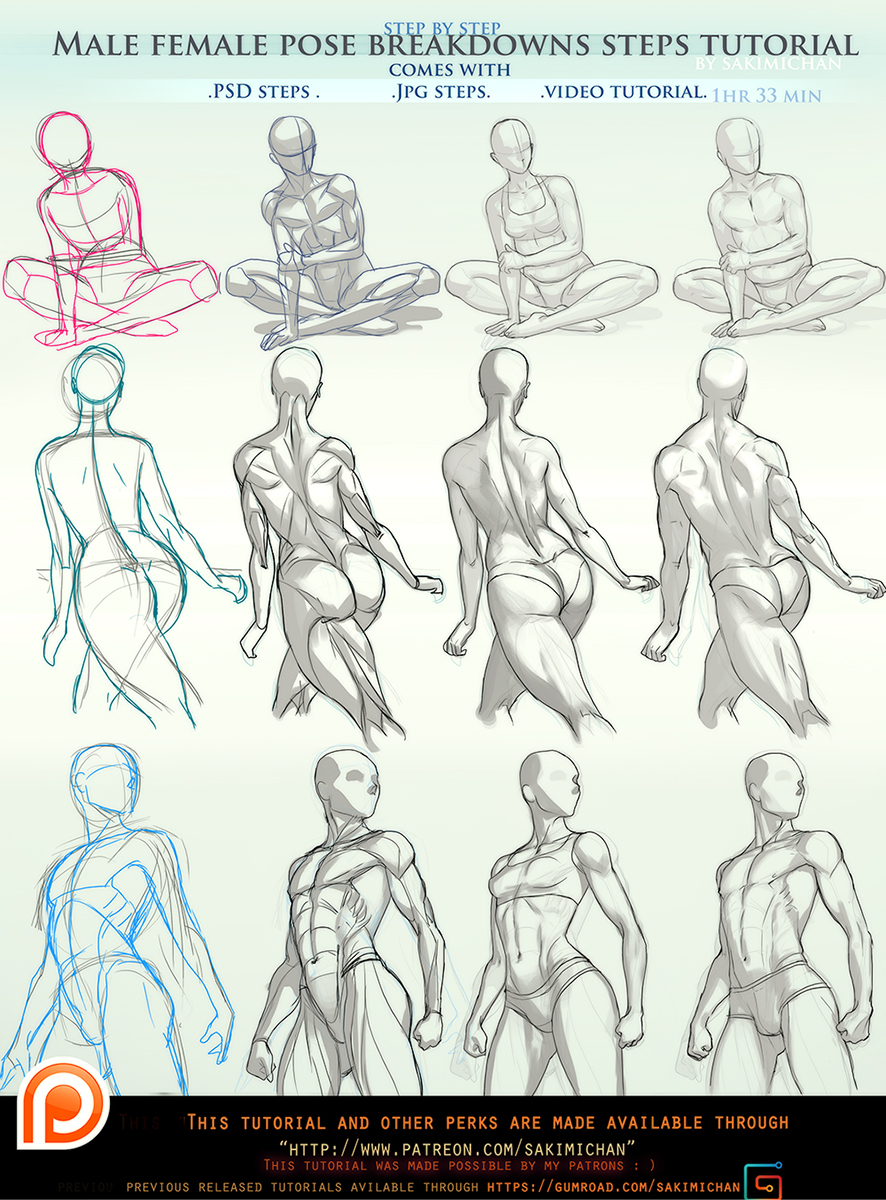 It is a graphic of Dynamic Women Drawing Poses