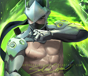 Genji .nude pinup tag. by sakimichan