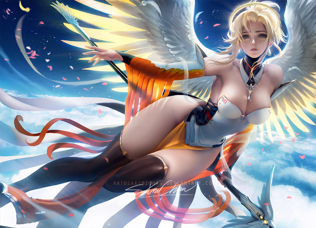 Fantasy  Mercy .nsfw optional. by sakimichan