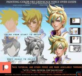 Painting color vrs painting greyscale voice over