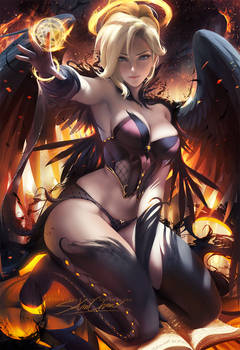 Halloween Angel Mercy pinup