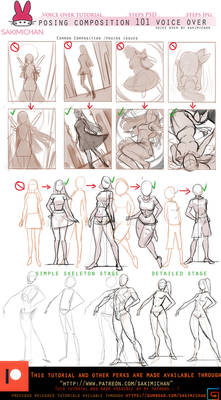 Posing/compositon for characters .voice over.promo