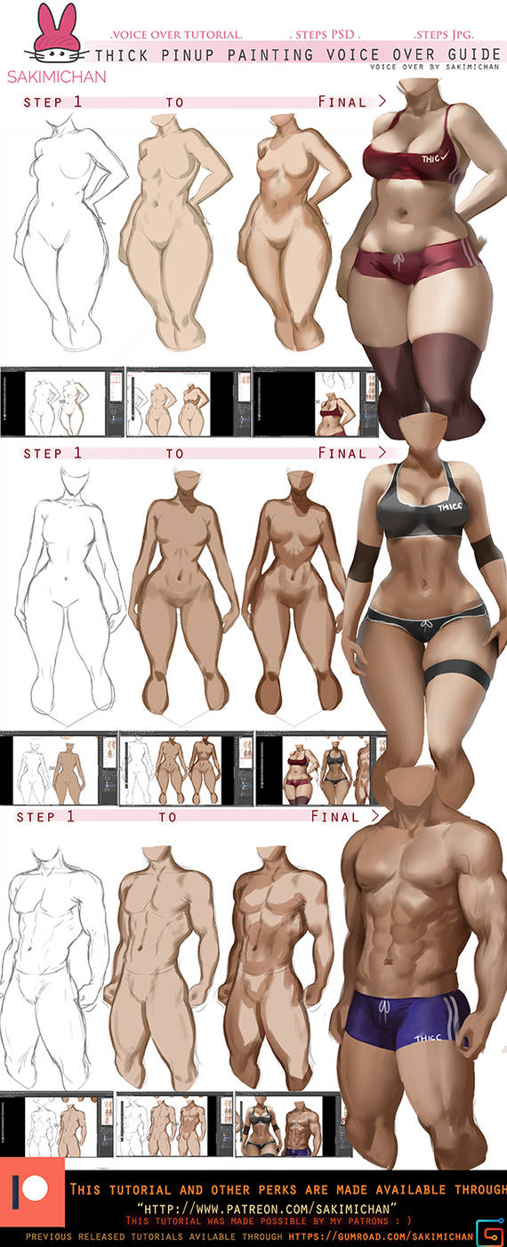 How to: paint thick Pinup voice over tut.promo. by sakimichan
