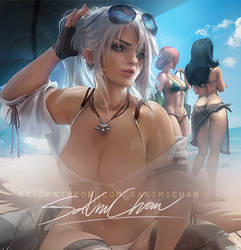 Ciri Modern. nsfw preview. by sakimichan