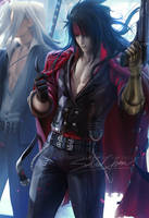 Vincent Valentine suite by sakimichan