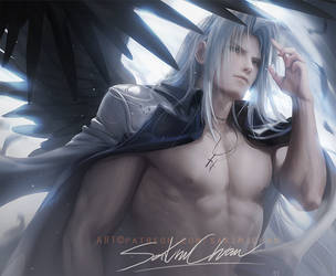 Sephiroth .shirtless vr. by sakimichan