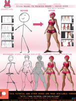 Stick figure To painted Figure tutorial .promo. by sakimichan